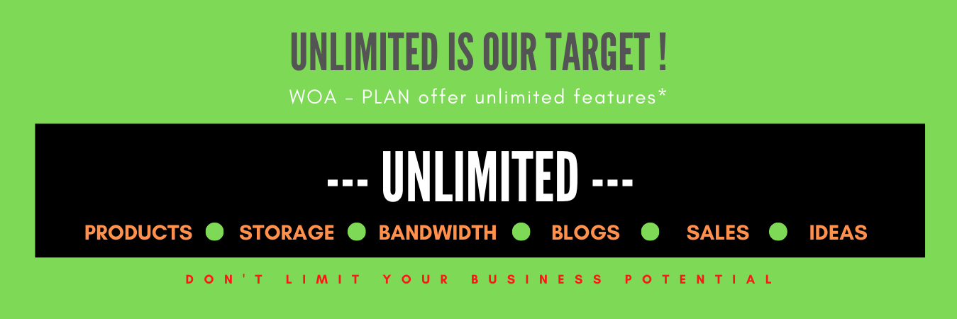 WoaSite Woa-Plan Unlimited products