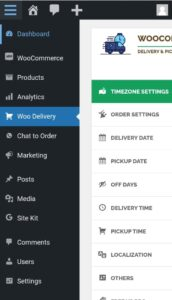Delivery / Pick up Option
