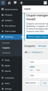 FB Store + Coupon Function
